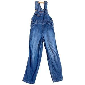 Women's Vintage SILVER Jeans Flared Denim Overalls